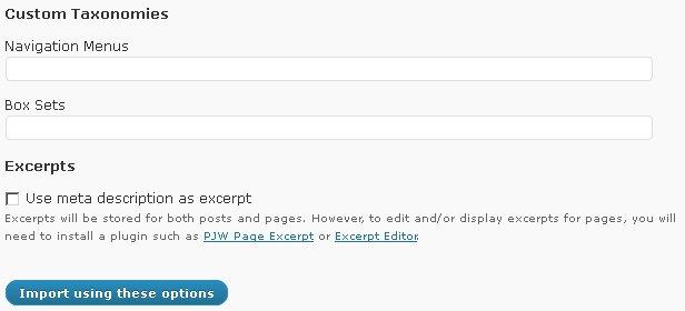 html import options custom taxonomies