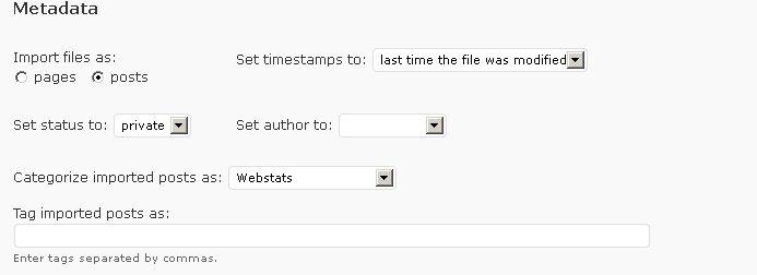 html import options metadata