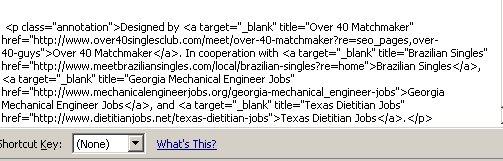 spammy links html code
